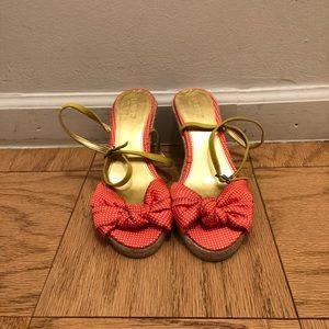 Jcrew espadrille peep toe sandal!